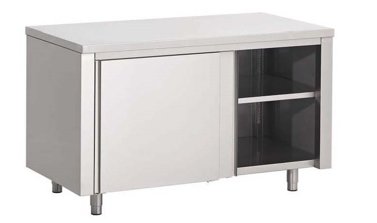 Meuble de rangement central inox aisi 304 1200 x 600 x 850 - Rangement inox cuisine ...