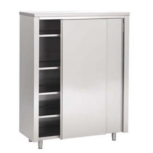 Armoire haute toit plat portes coulissantes inox for Materiel armoire cuisine