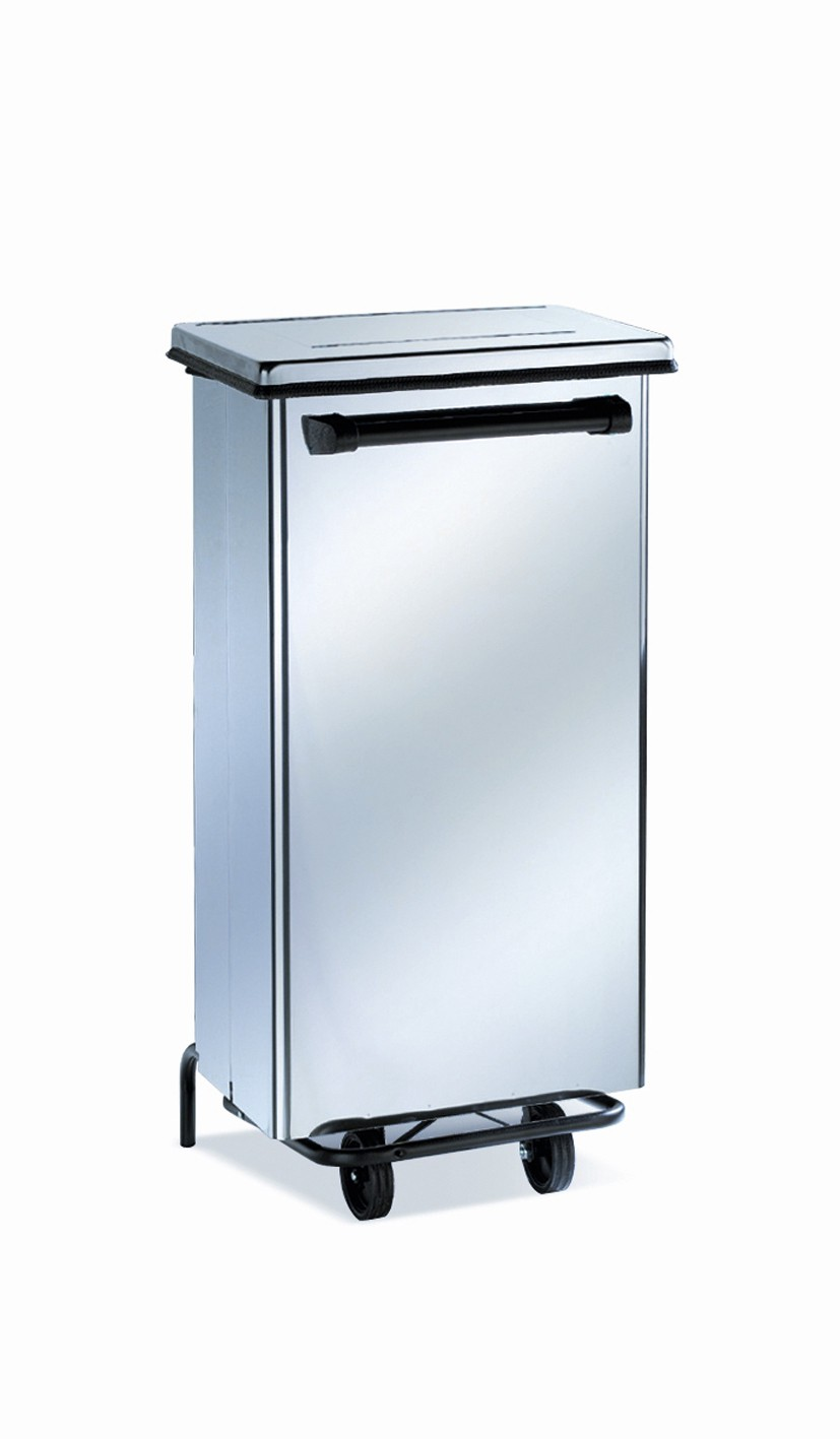 Poubelle cuisine inox roulettes for Support inox cuisine