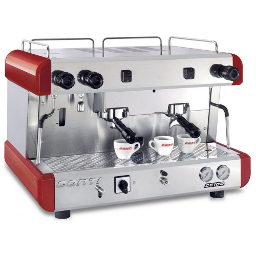 Machine à café professionnelle traditionnelle, électrique, CONTI CC100SA 2 groupes