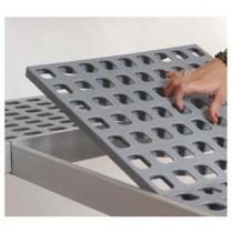 Rayonnage aluminium anodisé pour stockage en chambres froides 3 niveaux 717x470x1700 mm