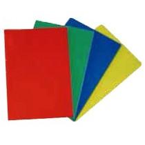 PLAQUE DE DÉCOUPE SUR PIEDS CAOUTCHOUC, couleur rouge , 400x300 mm