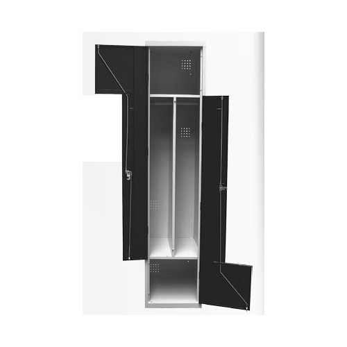 armoire vestiaire gain de place type l l 400 x p 490 x h 1940 mm stl sarl materiels. Black Bedroom Furniture Sets. Home Design Ideas
