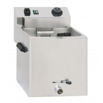 Cuiseur à pâtes électrique avec vanne de vidange - 1 panier, acier inoxydable AISI 304 , 270  x 420 x 300 mm