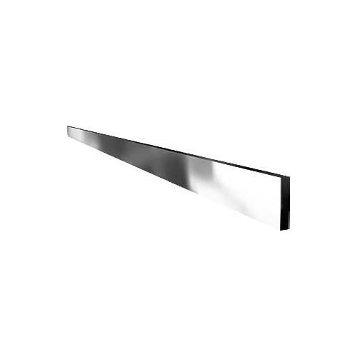 Rail à viande, barre lisse, inox poli miroir 3 faces, section: 40 x 8 mm
