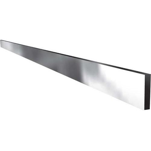 Rail à viande, barre lisse, inox poli miroir 4 faces, longeur : 1000 mm, section : 50 x 10 mm