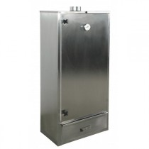 Fumoir traditionnel, inox AISI 304, double paroi isolation 30 mm, L 700 x P 400 x H 1500 mm