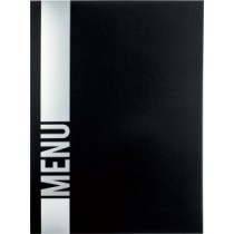 Protège menu Tendance A4 noir 4 vues, polypropylène, 325 x 240 mm
