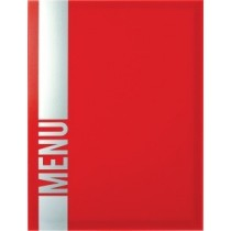 Protège menu Tendance A4 rouge 4 vues, polypropylène, 325 x 240 mm