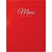 Protège menu Classique A4 rouge 4 vues, polypropylène, 325 x 240 mm