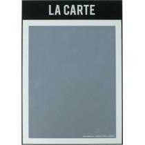 Protège menu custom recto noir A4 1 vue, polypropylène