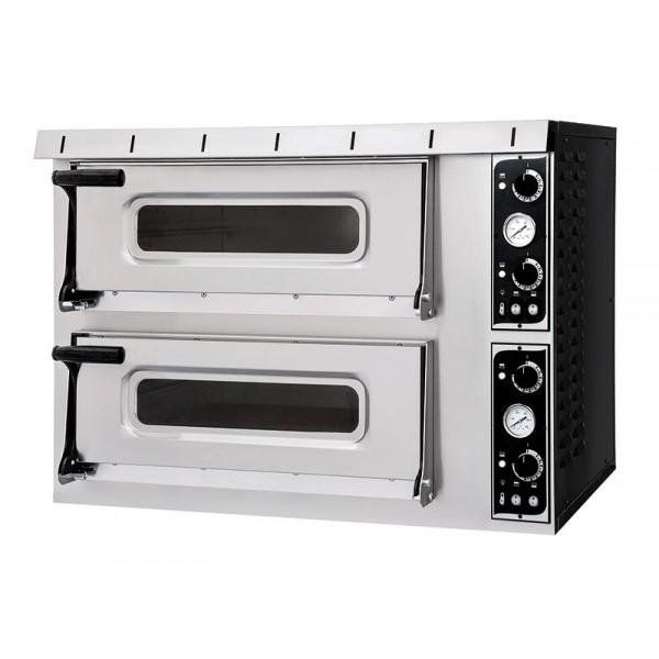 Four à pizza, éléctrique mécanique, acier inox, Basic 2/50 PLUS