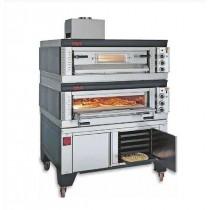 Four pour pizza, gaz modulaires, bi-chambre , SG/69/2, L 1110 x P 1150 x H 1000/1020 mm