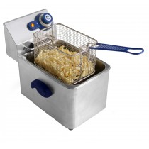Friteuse sans robinet de vidange, inox, type: 1 cuve 6 L, L 265 x P 430 x H 290 mm