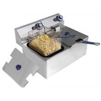Friteuse sans robinet de vidange, inox, type: 2 cuves 8 L, L 550 x P 430 x H 345 mm