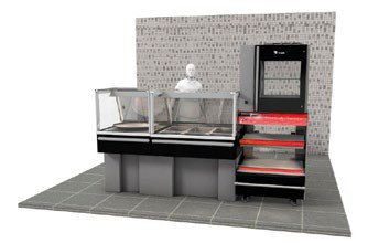 vitrine d 39 agencement pour rotisserie meuble neutre stl sarl materiels. Black Bedroom Furniture Sets. Home Design Ideas