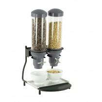 Distributeur de céréales 2 tubes, L 300 x P 390 x H 640 mm