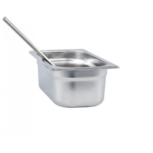 Bac gastronorme pour râteau, en inox AISI 304, 3.2 litres