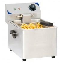 Friteuse boulanger électrique 8 litres, acier inoxydable, L 265 x P 430 x H 340 mm