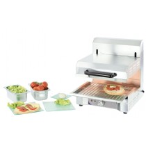 Salamandre cuisine, PM, acier inoxydable, L 600 x P 370 x H 375 mm