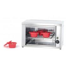Salamandre cuisine, position amovible PM, acier inoxydable, L 600 x P 370 x H 375 mm