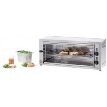 Salamandre cuisine, position amovible GM, acier inoxydable, L 875 x P 370 x H 365 mm