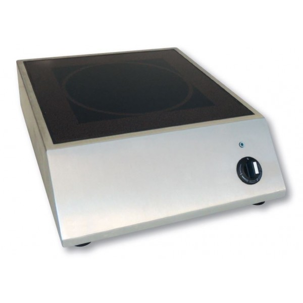 plaque induction triphas posable avec manette de r glage 1 foyer 6000 w professionnelle. Black Bedroom Furniture Sets. Home Design Ideas