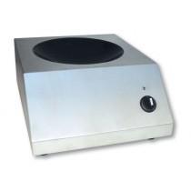 Wok induction triphasé, puissance 6000 W, L 410 x P 510 x H 210 mm