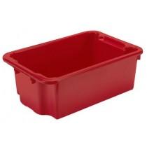 Bac alimentaire pour viande, rouge, polypropylène , L 600 x P 400 x H 220 mm