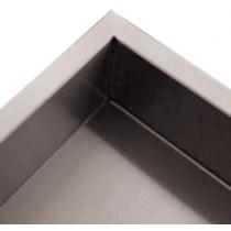 Dosseret latéral 100x20 mm, pour table démontable pieds ronds, P 600, 700, 800 mm