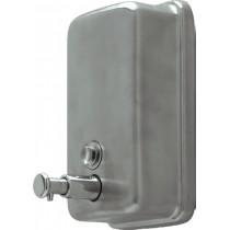 Distributeur de savon douche muraux, inox brossé, manuel, L 123 x P 110 x H 204 mm