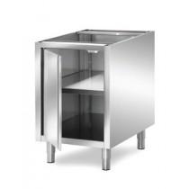 Meuble boulanger - patissier, inox AISI 304, 1 porte et 1 étagère, longueur 740 mm