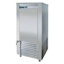 Refroidisseur d'eau, boulangerie-patisserie, réfrigération indirecte, avec mélangeur d'eau, E 500 AC L 1400 x P 715 x H 2010 mm