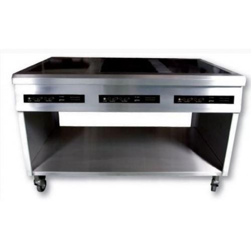 meuble inox a304 sp cial pour induction avec mitre arri re et fa ade amovible stl sarl. Black Bedroom Furniture Sets. Home Design Ideas