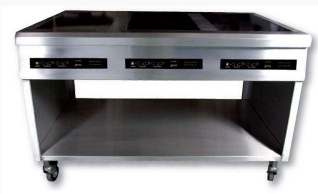 Meuble inox a304 sp cial pour induction avec mitre for Meuble cuisine amovible