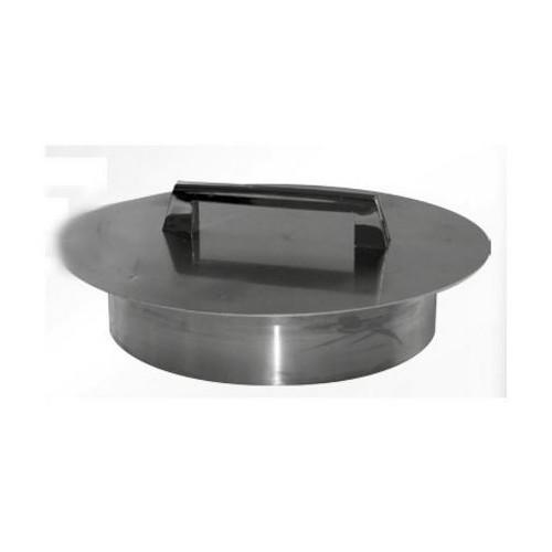 Couvercle inox ø 200 mm pour Trou vide - déchets