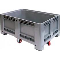 Bac à glace monobloc roulant en polyéthylène, 500 L, L 1200 x P 800 x H 760 mm