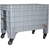 Bac à glace monobloc roulant, polyéthylène, 270 L, L 1040 x P 640 x H 670 mm