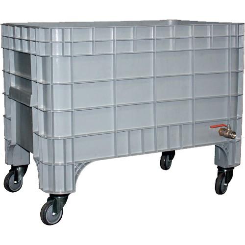 Bac à glace monobloc roulant, polyéthylène, 270 L, L 1040 x P 640 x H 673 mm