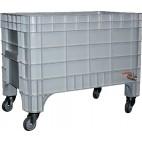 Bac à glace monobloc roulant en polyéthylène, 500 L, L 1200 x P 800 x H 960 mm