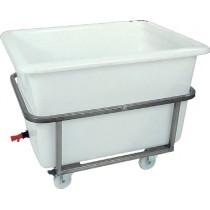Bac à glace sur châssis inox roulant, 310 L, polyéthylène, L 1030 x P 800 x H 610 mm