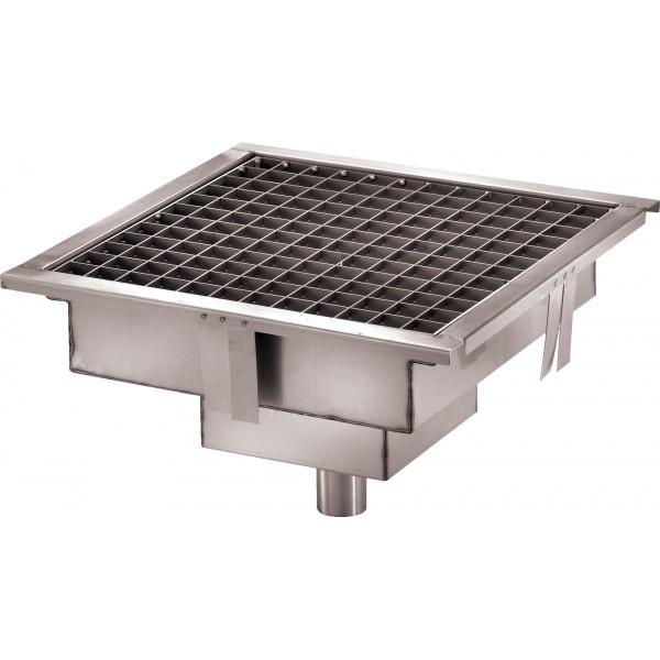 caniveau de sol cuisine professionnelle sortie verticale l 200 x p 200 x h 15 mm stl sarl. Black Bedroom Furniture Sets. Home Design Ideas