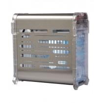Carter inox et abs transparent avec lampes à économie d'energie, L 260 x P 130 x H 270 mm