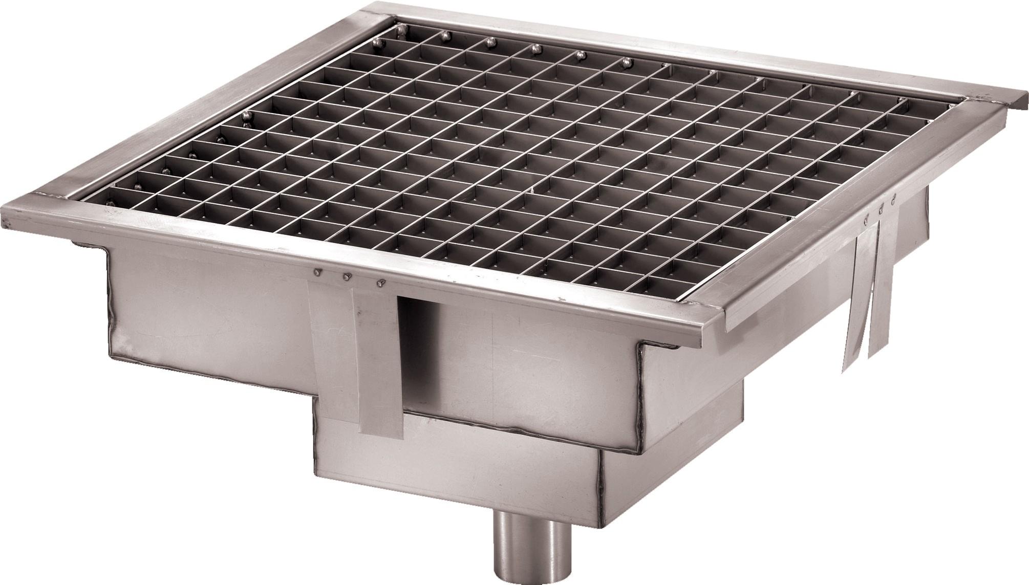 caniveau de sol cuisine professionnelle sortie verticale l 1000 x p 400 x h 15 mm stl sarl. Black Bedroom Furniture Sets. Home Design Ideas