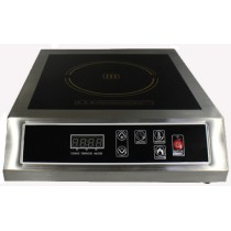 Table de cuisson  induction, 3.5 KW, inox, mono foyer, L 340 x P 450 x H 120 mm