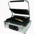 Panini grill, dessus et dessous rainurés, inox, L 430 x P 370 x  H 210 mm