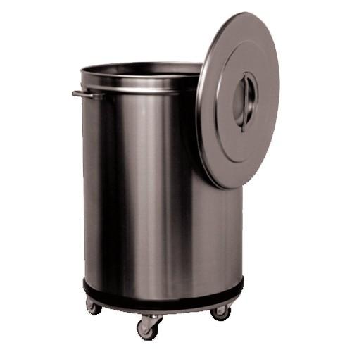 Bac d chets roulant inox 90 litre professionnelle for Bac inox cuisine professionnelle