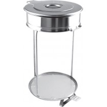 Poubelle cuisine inox pour sacs de 110 Litres , Ø 450 mm x H- 850 mm