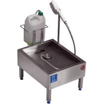 Lave-botte automatique , inox AISI 304 , L 650 x P 400 x H 500 mm