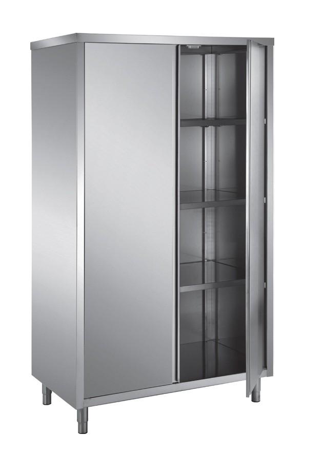 Armoire haute en toit plat portes battantes 2 portes p for Materiel armoire cuisine